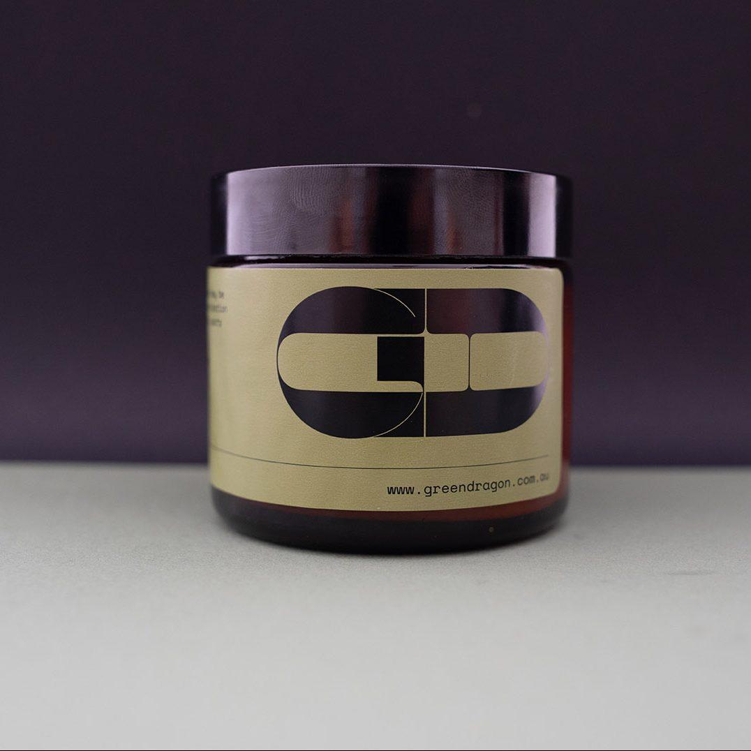 Greendragon sports cream jar lid on